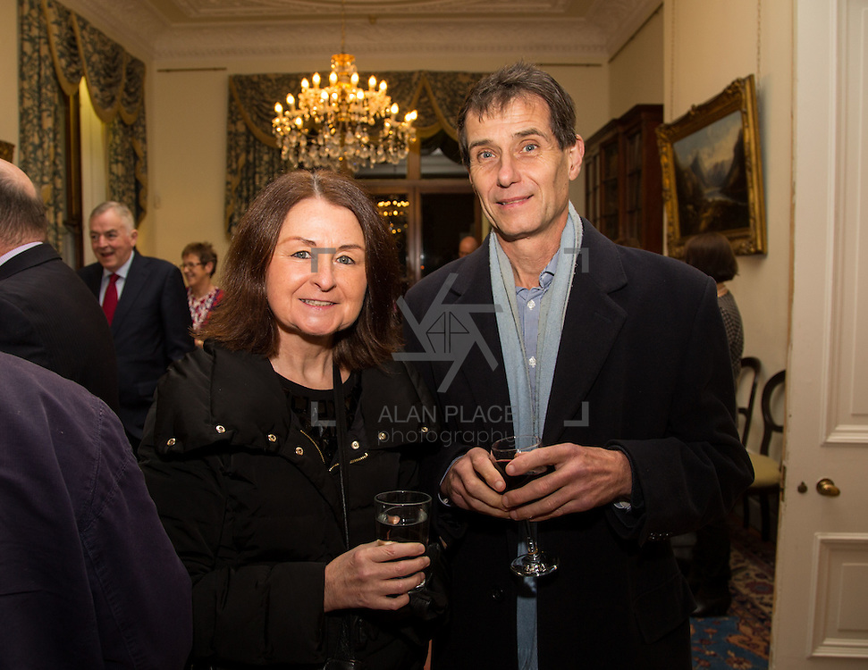 22.11.2016                   <br /> University of Limerick (UL) hosted a gala concert celebrating the music of renowned composer M&iacute;che&aacute;l &Oacute; S&uacute;illeabh&aacute;in.<br /> <br /> Pictured at a special reception before the concert were, Catherine Foley and John Dawson.<br /> <br /> <br /> The RT&Eacute; Concert Orchestra, conducted by David Brophy, performed with M&iacute;che&aacute;l and a selection of special guests in University Concert Hall Limerick. Picture: Alan Place