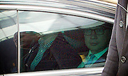 Michael Gove MP Justice Secretary and Conservative Party Leader candidate <br /> arriving for the Andrew Marr Show at the BBC, Portland Place,  London, Great Britain <br /> 3rd July 2016 <br /> Michael Gove <br /> leaving out of the back exit of the BBC in a car with black windows <br /> <br /> <br /> Photograph by Elliott Franks <br /> Image licensed to Elliott Franks Photography Services