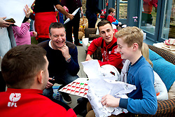 Joe Bryan of Bristol City gives out presents duringBristol City's visit to the Children's Hospice South West at Charlton Farm - Mandatory by-line: Robbie Stephenson/JMP - 21/12/2016 - FOOTBALL - Children's Hospice South West - Bristol , England - Bristol City Children's Hospice Visit