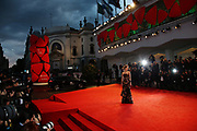 Amber Heard poses for photographers at the premiere of the film The Danish Girl during the 72nd edition of the Venice Film Festival in Venice, Italy, Saturday, Sept. 5, 2015. The 72nd edition of the festival runs until Sept. 12. (AP Photo/Joel Ryan)
