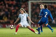 Jordan Nobbs (vice-captain) (England) (Arsenal) during the Women's International Friendly match between England Ladies and Italy Women at Vale Park, Burslem, England on 7 April 2017. Photo by Mark P Doherty.