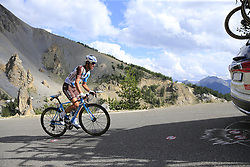 Alexis Villermoz (FRA) AG2R La Mondiale climbs through the Caisse Deserte on Col d'Izoard during Stage 18 of the 104th edition of the Tour de France 2017, running 179.5km from Briancon to the summit of Col d'Izoard, France. 20th July 2017.<br /> Picture: Eoin Clarke | Cyclefile<br /> <br /> All photos usage must carry mandatory copyright credit (© Cyclefile | Eoin Clarke)