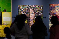 Friends and family came Monday afternoon, January 21st, 2019 to experience the grand opening of Black Creativity 2019 and participate in family style art projects at the Museum of Science and Industry located at 5700 S. Lake Shore Drive.<br /> <br /> 6092 &ndash; A acrylic on canvas painting in the Black Creativity 2019 titled, &ldquo;In the House&rdquo; by Arthur Wright.<br /> <br /> Please 'Like' &quot;Spencer Bibbs Photography&quot; on Facebook.<br /> <br /> Please leave a review for Spencer Bibbs Photography on Yelp.<br /> <br /> Please check me out on Twitter under Spencer Bibbs Photography.<br /> <br /> All rights to this photo are owned by Spencer Bibbs of Spencer Bibbs Photography and may only be used in any way shape or form, whole or in part with written permission by the owner of the photo, Spencer Bibbs.<br /> <br /> For all of your photography needs, please contact Spencer Bibbs at 773-895-4744. I can also be reached in the following ways:<br /> <br /> Website &ndash; www.spbdigitalconcepts.photoshelter.com<br /> <br /> Text - Text &ldquo;Spencer Bibbs&rdquo; to 72727<br /> <br /> Email &ndash; spencerbibbsphotography@yahoo.com<br /> <br /> #SpencerBibbsPhotography <br /> #HydePark <br /> #Community <br /> #Neighborhood<br /> #CanonUSA