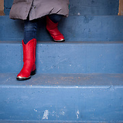 Red boots, Santa Fe, New Mexico