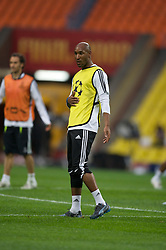 MOSCOW, RUSSIA - Tuesday, May 20, 2008: Chelsea's Nicolas Anelka during training ahead of the UEFA Champions League Final against Manchester United at the Luzhniki Stadium. (Photo by David Rawcliffe/Propaganda)