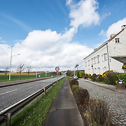 The front of the farmhouse known as Ferme du Caillou. Next to the field where the Battle of Waterloo took place in 1815, the farmhouse is famous as the place where Napoleon spent the night before the battle. It is now a museum. This shot is taken looking towards the battleground (over the horizon).