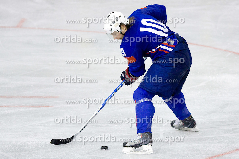 Mitja Sivic of Slovenia  at ice-hockey friendly match between National teams of Slovenia and Denmark, on April 14, 2010, in Tivoli hall, Ljubljana, Slovenia. Denmark defeated Slovenia 5-3. (Photo by Vid Ponikvar / Sportida)