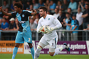 Wycombe Wanderers goalkeeper Matt ingram during the Sky Bet League 2 match between Barnet and Wycombe Wanderers at The Hive Stadium, London, England on 15 August 2015. Photo by Bennett Dean.