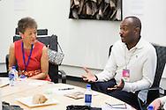 Reggie Van Lee of Booz Allen Hamilton at the lunchtime Roundtable: Jane Chu/Measuring Impact in the Arts at the 2015 Aspen Ideas Festival in Aspen, CO. ©Brett Wilhelm