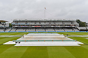 General view of Lords with the covers on due to heavy rain ahead of the International Test Match 2019 match between England and Australia at Lord's Cricket Ground, St John's Wood, United Kingdom on 14 August 2019.