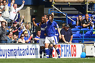 Ipswich - Sunday Aprll 19th 2009:Ipswich's Giovani Dos Santos puts his side ahead from the penalty spot and celebrates during the Coca Cola League Championship match at Portman Road, Ipswich. (Pic by Paul Chesterton/Focus Images)