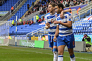 Reading FC midfielder Hal Robson-Kanu and Reading FC defender Chris Gunter during the The FA Cup fourth round match between Reading and Walsall at the Madejski Stadium, Reading, England on 30 January 2016. Photo by Mark Davies.
