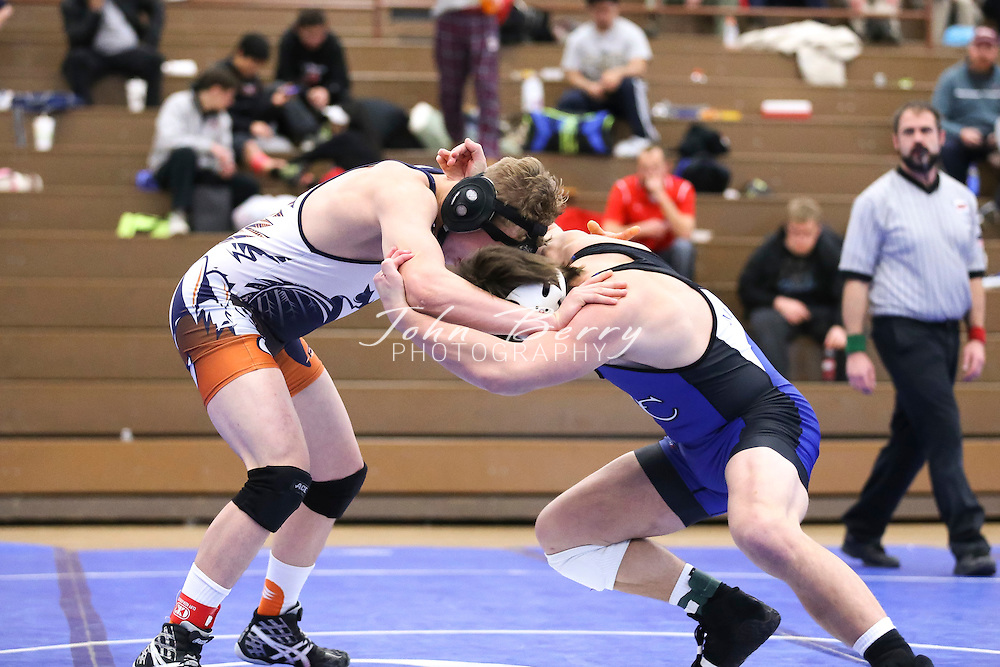 February 06, 2016.  <br /> MCHS Wrestling vs Clarke.  Conference 35 Tournament.