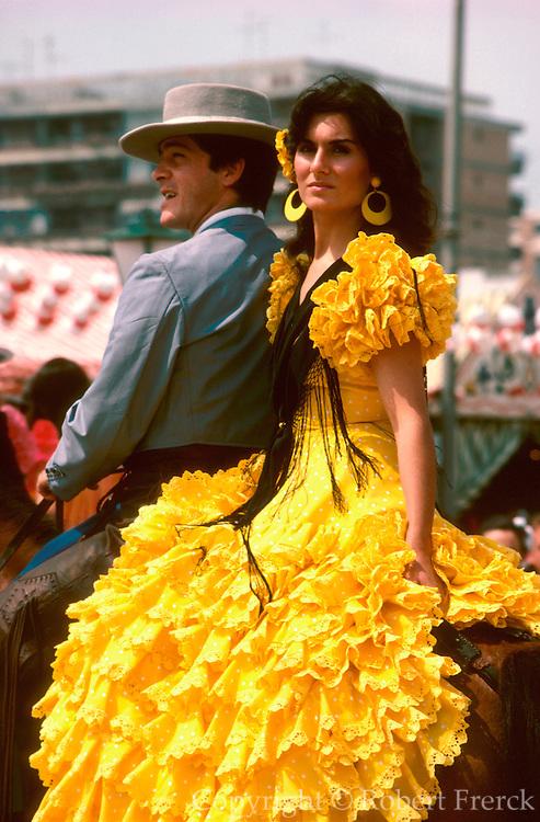 SPAIN, ANDALUSIA, FESTIVALS famous 'Feria de Abril' in Seville
