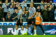 Jose Salomon Rondon (#9) of Newcastle United celebrates Newcastle United's second goal (2-0) during the Premier League match between Newcastle United and Bournemouth at St. James's Park, Newcastle, England on 10 November 2018.