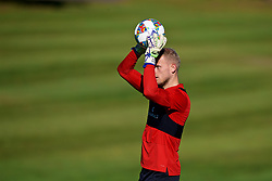 CARDIFF, WALES - Tuesday, October 9, 2018: Wales' goalkeeper Adam Davies during a training session at the Vale Resort ahead of the International Friendly match between Wales and Spain. (Pic by David Rawcliffe/Propaganda)