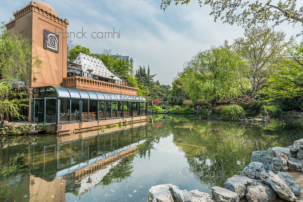 Shanghai, China - April 7, 2013: barbarossa restaurant in people's park at the city of Shanghai in China on april 7th, 2013
