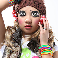 Anime:  Fusion of Anime Characters and Harajuku