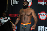 Houston, Texas - February 18, 2016: Kimbo Slice weighs-in before his fight against Dada 5000 during the Bellator 149 weigh-ins at the Toyota Center in Houston, Texas on February 18, 2016. (Cooper Neill for ESPN)