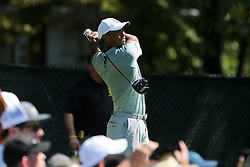 September 21, 2018 - Atlanta, Georgia, United States - Tiger Woods tees off the 5th hole during the second round of the 2018 TOUR Championship. (Credit Image: © Debby Wong/ZUMA Wire)