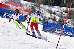 DELEPLACE Hyacinthe, Guide: JOURDAN Maxime, B2, FRA, Slalom at the WPAS_2019 Alpine Skiing World Cup Finals, Morzine, France