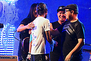 """CHIANG RAI, THAILAND - DECEMBER 25: Bodyslam members surprise Aritwara """"Thoon Bodyslam"""" Kongmalai in Mae Sai, Chiang Rai during the Kao Konla Kao, Chiang Rai, Thailand on December 25, 2017.<br /> .<br /> .<br /> .<br /> (Photo by: Naratip Golf Srisupab/SEALs Sports Images)<br /> .<br /> Any image use must include a mandatory credit line adjacent to the content which should read: Naratip Golf Srisupab/SEALs Sports Images"""