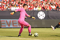July 28, 2018 - Ann Arbor, MI, U.S. - ANN ARBOR, MI - JULY 28: Liverpool Keeper Kamil Grabara (73) starts the play in the first half of the ICC soccer match between Manchester United FC and Liverpool FC on July 28, 2018 at Michigan Stadium in Ann Arbor, MI (Photo by Allan Dranberg/Icon Sportswire) (Credit Image: © Allan Dranberg/Icon SMI via ZUMA Press)