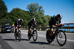 Audrey Cordon-Ragot (FRA) in the Wiggle High5 train at Giro Rosa 2018 - Stage 1, a 15.5 km team time trial in Verbania, Italy on July 6, 2018. Photo by Sean Robinson/velofocus.com
