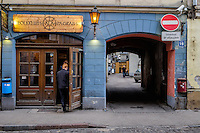 RIGA, LATVIA - CIRCA MAY 2014: Bar in Old town Riga.