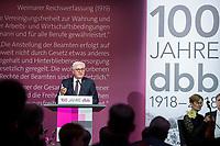 29 NOV 2018, BERLIN/GERMANY:<br /> Festakt mit Bundespraesident Steinmeier anl. des 100. Gruendungsjubilaeums des Beamtenbunds, dbb forum berlin<br /> IMAGE: 20181129-01-137<br /> KEYWORDS;&acute;: Gr&uuml;ndung, Jubil&auml;um,
