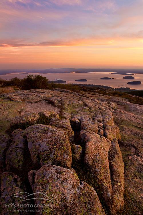 Dawn on Cadillac Mountain n Maine's Acadia National Park.