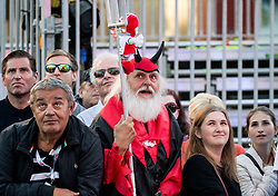 Supporter Didi the Devil Mustard of Austria during the Men Juniors Road Race a 132.4km race from Kufstein to Innsbruck 582m at the 91st UCI Road World Championships 2018 / RR / RWC / on September 27 , 2018 in Innsbruck, Austria.  Photo by Vid Ponikvar / Sportida