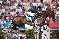 Camilla Speirs, (IRL), Portersize Just a Jiff - Jumping Eventing - Alltech FEI World Equestrian Games™ 2014 - Normandy, France.<br /> © Hippo Foto Team - Jon Stroud<br /> 31-08-14
