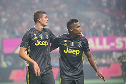 August 1, 2018 - Atlanta, Georgia, United States - Juventus forward ANDREA FAVILLI, 42 and Juventus defender ALEX SANDRO, 12  celebrate the first goal during the 2018 MLS All-Star Game at Mercedes-Benz Stadium in Atlanta, Georgia.  Juventus F.C. defeats  MLS All-Stars defeat  1 to 1  (Credit Image: © Mark Smith via ZUMA Wire)