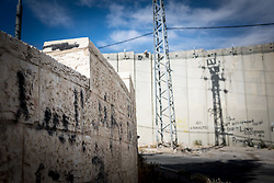 5 May 2016, Jerusalem: The wall dividing Israelis from Palestinians.