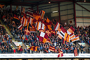Bradford City flags during the EFL Sky Bet League 1 play off first leg match between Bradford City and Fleetwood Town at the Coral Windows Stadium, Bradford, England on 4 May 2017. Photo by Simon Davies.