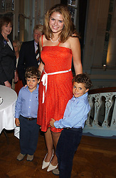 STELLA POWELL-JONES with her brothers SIMON & TOMMY SOROS children of Flora Fraser at a party to celebrate the publication of 'Princesses' the six daughters of George 111 by Flora Fraser held at the Saville Club, Brook Street, London W1 on 14th September 2004.<br /><br />NON EXCLUSIVE - WORLD RIGHTS