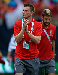 CHARLOTTE, USA - Sunday, July 22, 2018: Liverpool's Andy Robertson after a preseason International Champions Cup match between Borussia Dortmund and Liverpool FC at the  Bank of America Stadium. (Pic by David Rawcliffe/Propaganda)