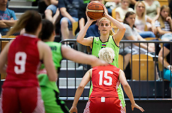 Maja Erkic of Slovenia during friendly basketball match between Women National teams of Slovenia and Croatia before FIBA Eurobasket Women 2017 in Prague, on June 1, 2017 in Celje, Slovenia. Photo by Vid Ponikvar / Sportida