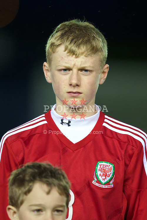 CONNAH'S QUAY, WALES - Thursday, March 20, 2014: Wales' Ben Williams before the Under-15's International Friendly match against Poland at the Deeside Stadium. (Pic by David Rawcliffe/Propaganda)