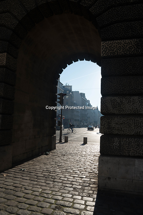 Paris. 10th district. Saint Martin gate /  Porte Saint Martin