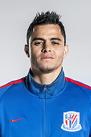 **EXCLUSIVE**Portrait of Colombian soccer player Giovanni Moreno of Shanghai Greenland Shenhua F.C. for the 2018 Chinese Football Association Super League, in Shanghai, China, 2 February 2018.