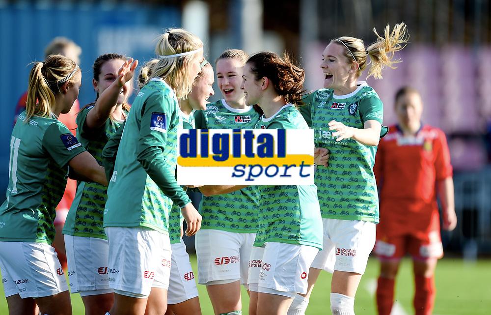 Fotball , 28. september 2017 ,  Toppserien ,  Røa - Klepp<br /> Jubel sfor scoring av Tameka Butt   , Klepp
