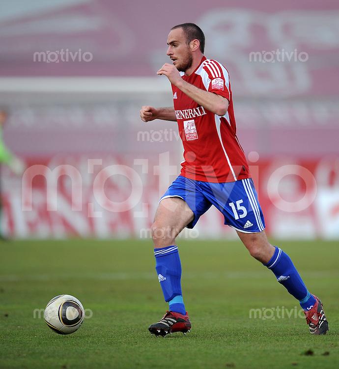Fussball 3. Bundesliga :  Saison   2009/2010  34. Spieltag   SpVgg Unterhaching - Dynamo Dresden   13.04.2010 Andreas Brysch  (Unterhaching)