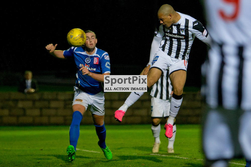 Stranraer v Dunfermline Athletic SPFL League One Season 2015/16 Stair Park 17 October 2015<br /> Mickael Antoine-Curier makes it 3-0<br /> CRAIG BROWN | sportPix.org.uk