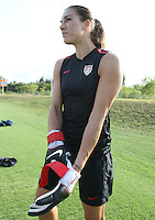 WEST PALM BEACH, FL - MAY 2:  Goalie Hope Solo of the US Women's Soccer team trains in West Palm Beach, Florida on May 2, 2011.  (Photo by Jed Jacobsohn)