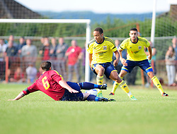 Bristol City's Bobby Reid side steps a challenge - Photo mandatory by-line: Dougie Allward/JMP - Tel: Mobile: 07966 386802 03/07/2013 - SPORT - FOOTBALL - Bristol -  Ashton and Backwell United V Bristol City - Pre Season Friendly