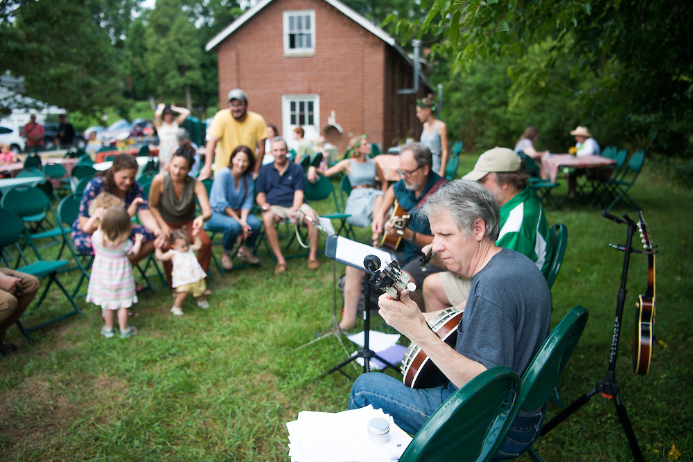 Members of the band Eight AM (Right to Left) Bruce Winn, Bob Williams and Randy Shoup perform at the Child Development Center's annual garden party. Photo by Ben Siegel