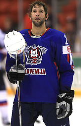 Anze Terlikar of Slovenia at ice-hockey game Slovenia vs Slovakia at Relegation  Round (group G) of IIHF WC 2008 in Halifax, on May 09, 2008 in Metro Center, Halifax, Nova Scotia, Canada. Slovakia won 5:1. (Photo by Vid Ponikvar / Sportal Images)