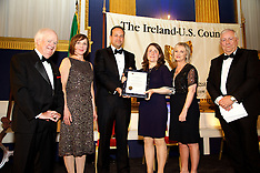 Ireland-U.S. Council  Midsummer Gala Dinner,  St. Patrick's Hall, Dublin Castle, Dublin. Ireland.